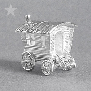 Romany Caravan Charm in Sterling Silver or Gold