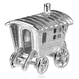 Gypsy Caravan Charm in Sterling Silver or Gold