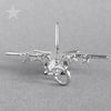 Hercules Aircraft Charm in Sterling Silver or Gold