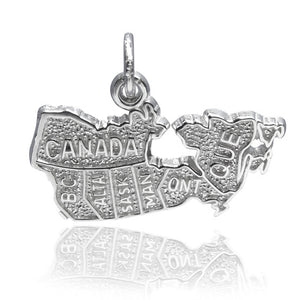 Canada Map Charm