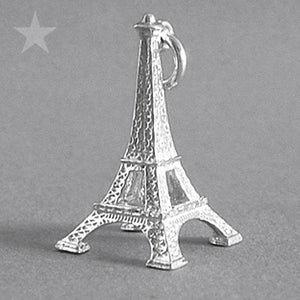 Eiffel Tower Paris France Charm in Sterling Silver or Gold