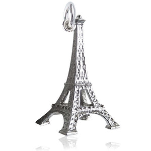 Eiffel Tower Charm in Sterling Silver or Gold