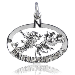 Falkland Island Charm in Sterling Silver or Gold