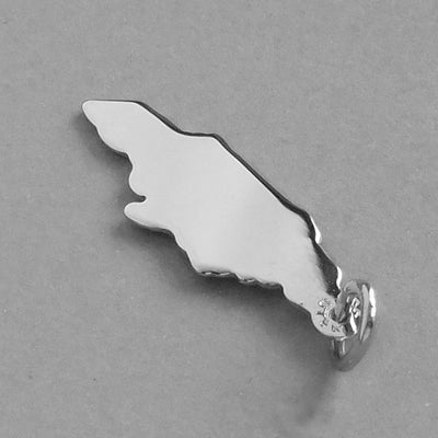 Jamaica Charm Sterling Silver Map Pendant | Silver Star Charms