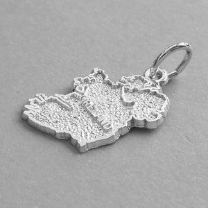 Irish Map Charm