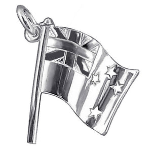 New Zealand Flag Charm in Sterling Silver or Gold