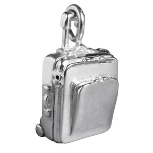 Opening Suitcase Charm in Sterling Silver or Gold