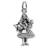 Sterling Silver Alice in Wonderland Charm Pendant | Silver Star Charms