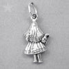 Sterling Silver Alice in Wonderland Charm Pendant