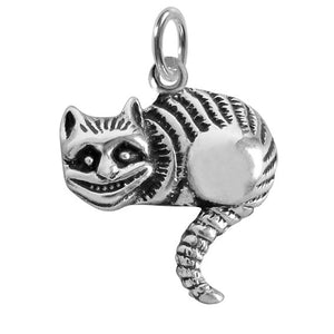 Sterling Silver Alice in Wonderful Cheshire Cat Charm