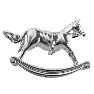 Rocking Horse Charm in Sterling Silver or Gold