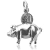 Piggy Bank Money Box Charm with Moving Coin