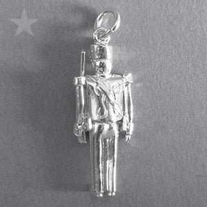 Moving Toy Soldier Charm in Sterling Silver or Gold