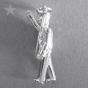 Moving Toy Soldier Pendant in Sterling Silver or Gold