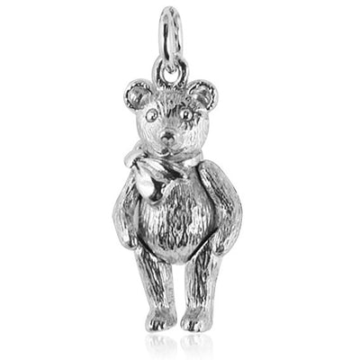 Sterling Silver Moving Teddy Bear Charm