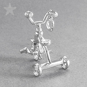 Tricycle Charm in Sterling Silver or Gold