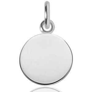 Sterling Silver or Gold Engravable Disc Charm to Engrave