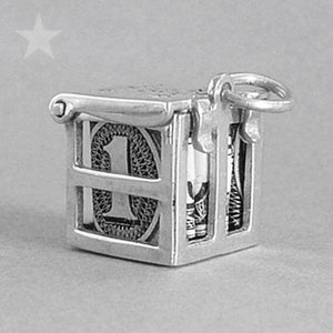 Sterling Silver Never Be Broke Lucky Money Charm