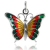 Vintage Silver Enamel Beaucraft Butterfly Charm