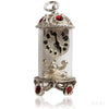 Vintage silver Nuvo carriage clock charm pendant