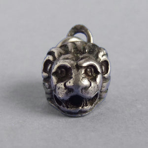 Small Lion Head Charm 900 Silver Animal Pendant | Silver Star Charms