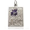 Sterling silver purple enamel iris orchid mother flower charm