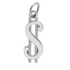 Dollar money symbol charm sterling silver 925 or gold pendant