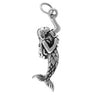Mermaid Charm Sterling Silver Pendant | Silver Star Charms