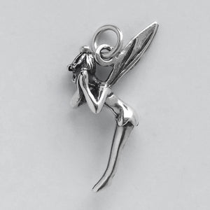 Tinker Bell Fairy Charm Sterling Silver Tinkerbell Pendant | Silver Star Charms