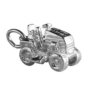 Ride on lawn mower charm sterling silver 925 or gold pendant
