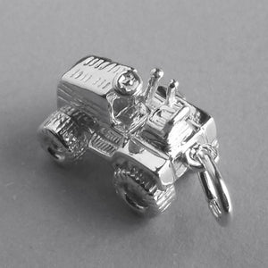 Sit on lawn mower charm sterling silver 925 or gold pendant