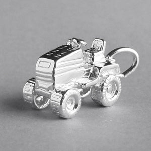 Ride on lawnmower charm sterling silver 925 or gold pendant