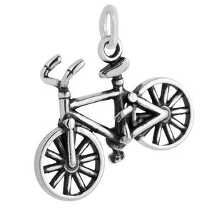 Bicycle charm sterling silver 925 pendant