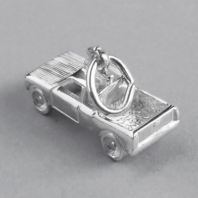 Pick up truck ute vehicle charm pendant in sterling silver or gold