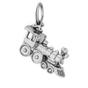 Locomotive train charm sterling silver 925 or gold pendant
