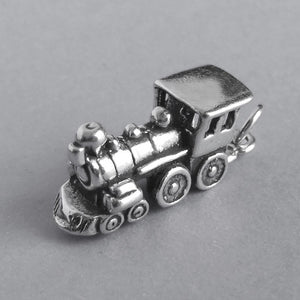 Train Engine Charm Sterling Silver Pendant | Charmarama