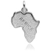 Africa map charm sterling silver or gold pendant