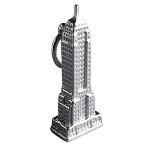 Empire State Building New York Sterling Silver Charm Pendant