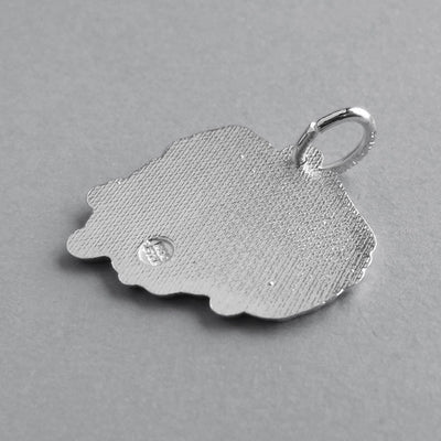 Poland map charm sterling silver or gold pendant