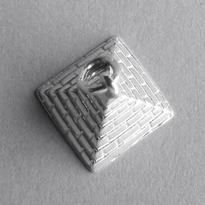 Pyramid charm sterling silver 925 or gold pendant