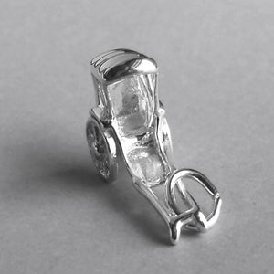 Asian Rickshaw by Rembrandt Sterling Silver or Gold Pendant