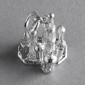 St Basil's Cathedral charm sterling silver 925 or gold pendant