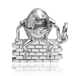 Mechanical Humpty Dumpty Charm Opens to Glue | Silver Star Charms