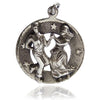Vintage Beaucraft Beau Dancing Couple Charm | Silver Star Charms