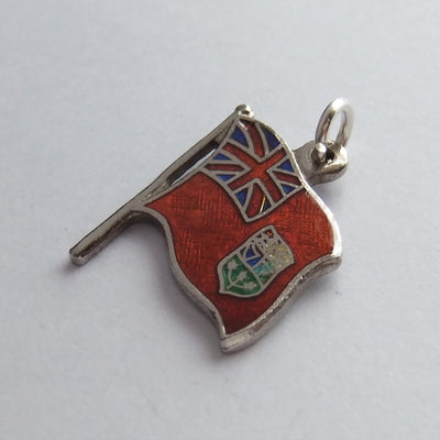 Vintage BMCo Canada Red Ensign Flag Charm Sterling Silver Pendant