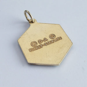 Vintage Norway David Andersen Aquarius Zodiac Symbol Charm