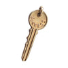 Vintage key charm love success 10k gold pendant