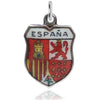 Vintage Espana Spain Travel Shield Charm | Silver Star Charms