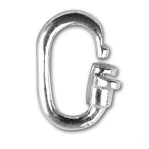 Sterling Silver Link Lock Locking Jump Ring Charm Attachment