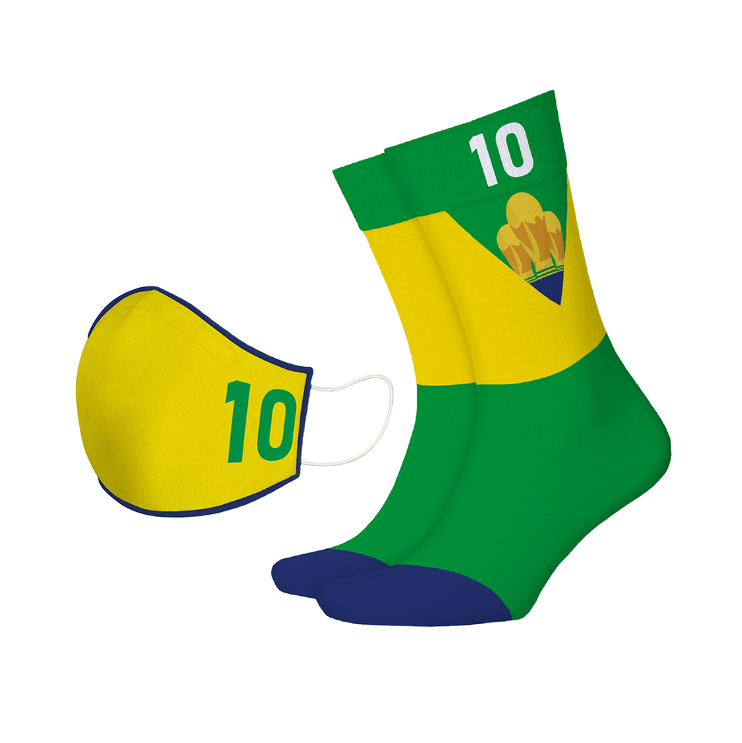 The Brazilian Legend Mask + Sock